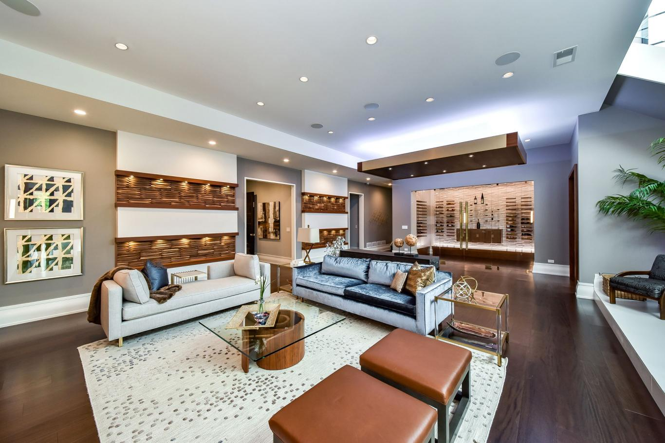 Custom Luxury Homes By Charleston Building - Basement Entertainment Area 2 -